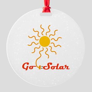 Go Solar Round Ornament