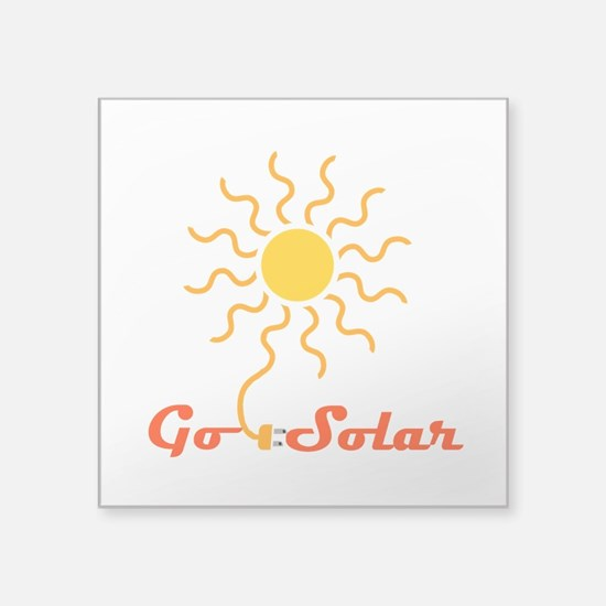 """Go Solar Square Sticker 3"""" x 3"""""""