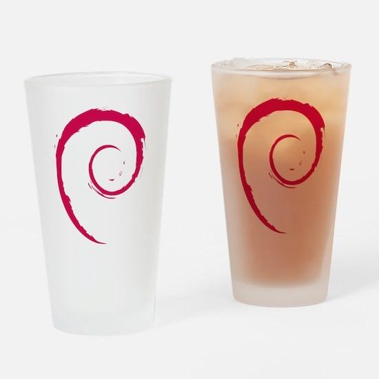 Debian swirl Drinking Glass
