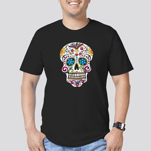 Sugar Skull Men's Fitted T-Shirt (dark)