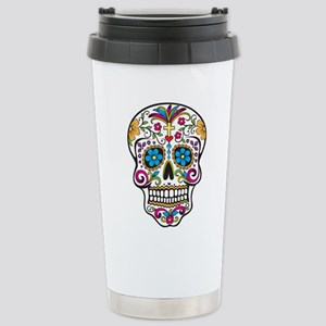 Sugar Skull Stainless Steel Travel Mug