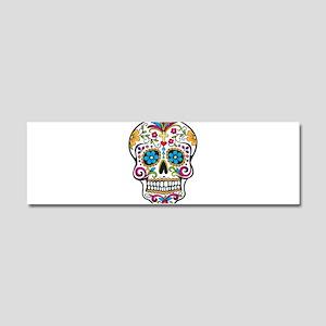 Sugar Skull Car Magnet 10 x 3