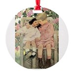 Brother and Sister Round Ornament