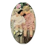 Brother and Sister Sticker (Oval 10 pk)