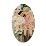 Brother and Sister 20x12 Oval Wall Decal