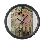 Brother and Sister Large Wall Clock