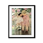Brother and Sister Framed Panel Print