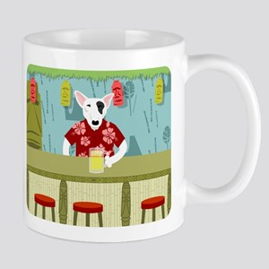 English Bull Terrier Tiki Bar Coffee Mug