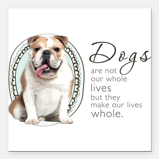 "wholelives.png Square Car Magnet 3"" x 3"""