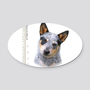 portrait9 Oval Car Magnet