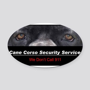 security Oval Car Magnet