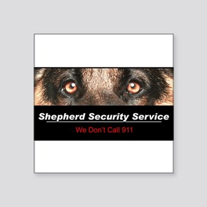 "security Square Sticker 3"" x 3"""