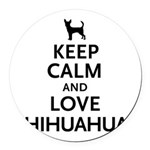 keepcalm.png Round Car Magnet