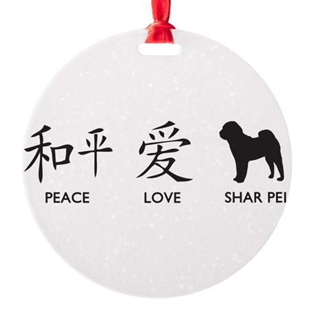 chinesepeace.png Round Ornament