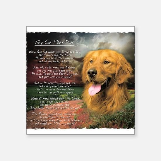 "godmadedogs.png Square Sticker 3"" x 3"""