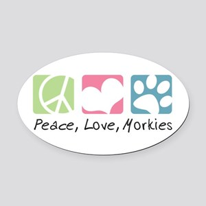 peacedogs Oval Car Magnet