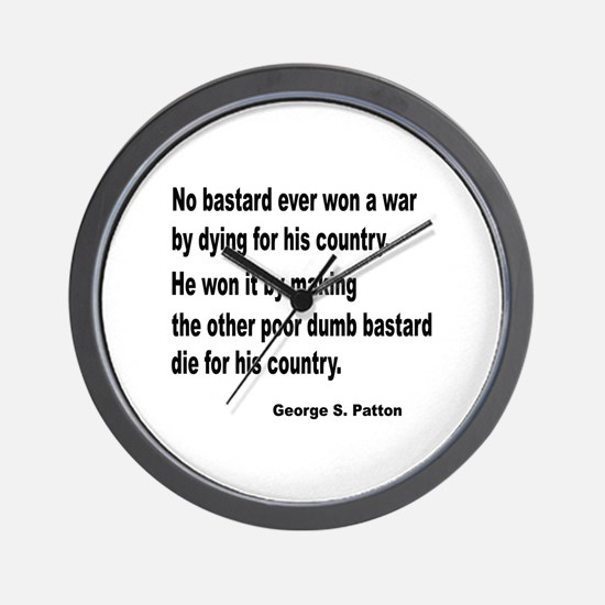 Patton on Winning a War Wall Clock