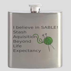 Knitting:I Believe In SABLE Flask