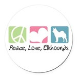 peacedogs.png Round Car Magnet