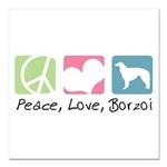 peacedogs.png Square Car Magnet 3
