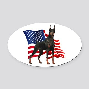 flag Oval Car Magnet
