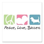 peacedogs Square Car Magnet 3