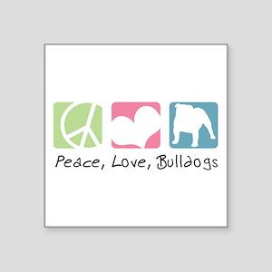 """peacedogs Square Sticker 3"""" x 3"""""""