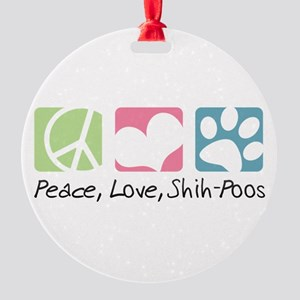 peacedogs Round Ornament