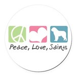 peacedogs Round Car Magnet