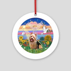 AutumnAngel-Aussie Terrier Ornament (Round)