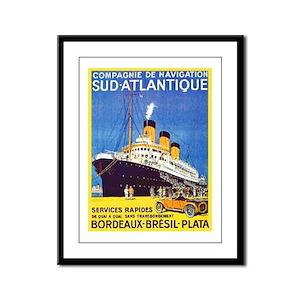 France Travel Poster 10 Framed Panel Print