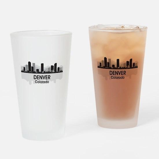 Denver Skyline Drinking Glass