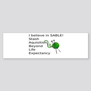 Knitting:I Believe In SABLE Sticker (Bumper)