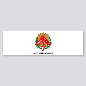 101st Support Group with Text Sticker (Bumper)