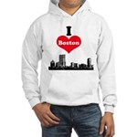 I Love Boston Hooded Sweatshirt