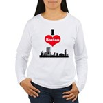I Love Boston Women's Long Sleeve T-Shirt