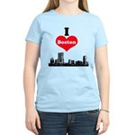 I Love Boston Women's Light T-Shirt