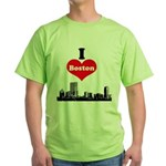 I Love Boston Green T-Shirt