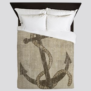 Vintage Anchor Queen Duvet