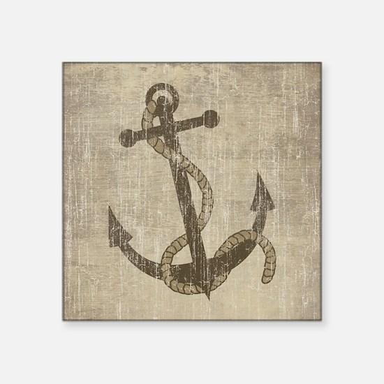 "Vintage Anchor Square Sticker 3"" x 3"""
