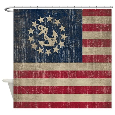 Vintage America Yacht Flag Shower Curtain