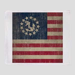 Vintage America Yacht Flag Throw Blanket