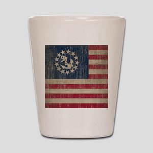 Vintage America Yacht Flag Shot Glass