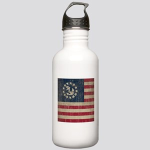 Vintage America Yacht Flag Stainless Water Bottle