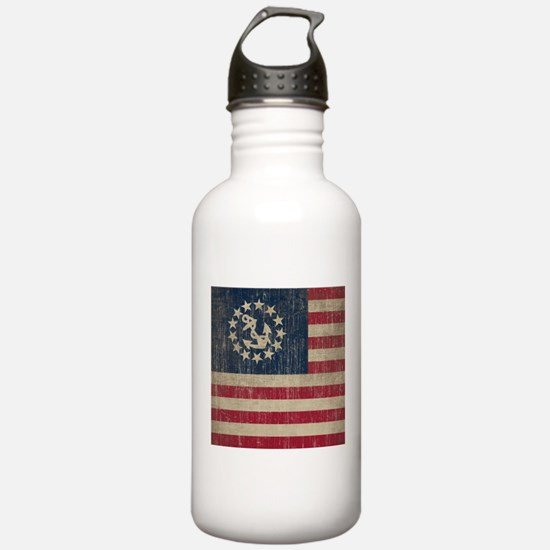 Vintage America Yacht Flag Water Bottle