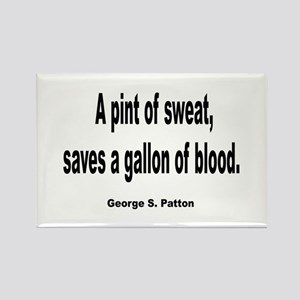 Patton Sweat & Blood Quote Rectangle Magnet