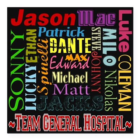 gh guy names black copy square car magnet 3 x by buzzedition