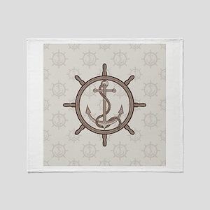 Stylish Anchor Throw Blanket