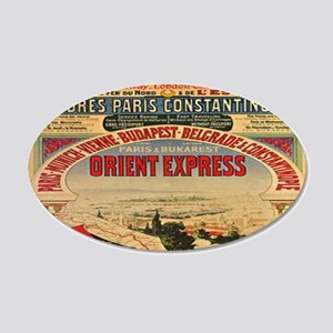 Orient Express 20x12 Oval Wall Decal