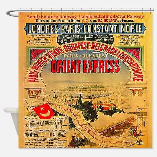 Orient Express Shower Curtain